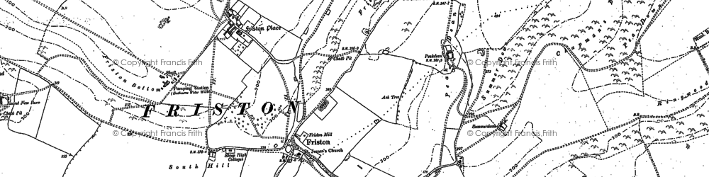 Old map of East Dean in 1908