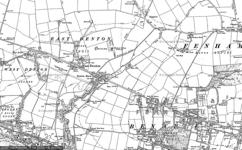 Old Maps of East Denton Francis Frith
