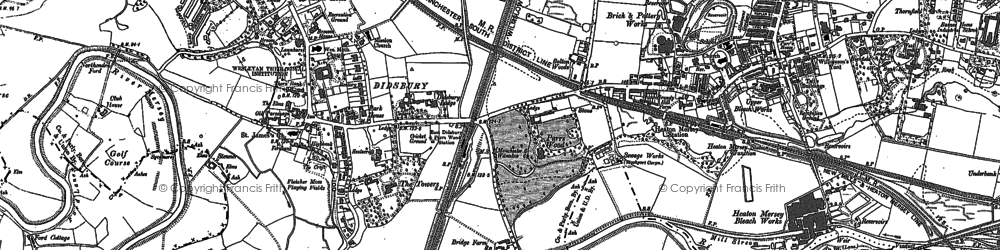 Old map of Abney Hall in 1897