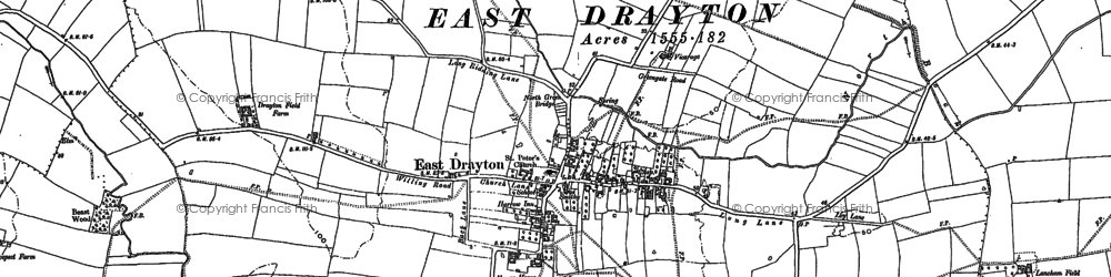 Old map of Whimpton Moor in 1884