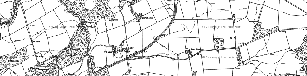Old map of Yellow Rigg in 1895