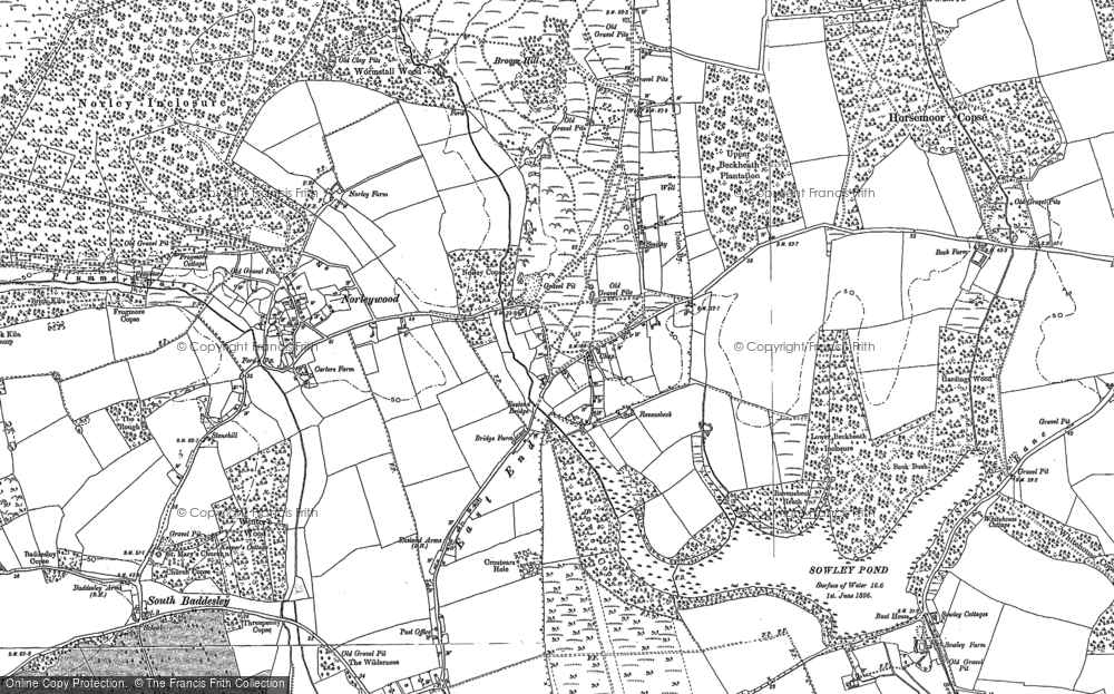 Old Map of Historic Map covering Colgrims in 1895