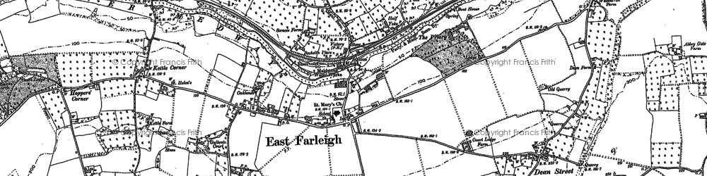 Old map of East Farleigh in 1867