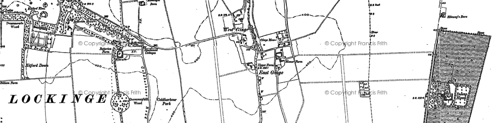 Old map of Ardington Down in 1898