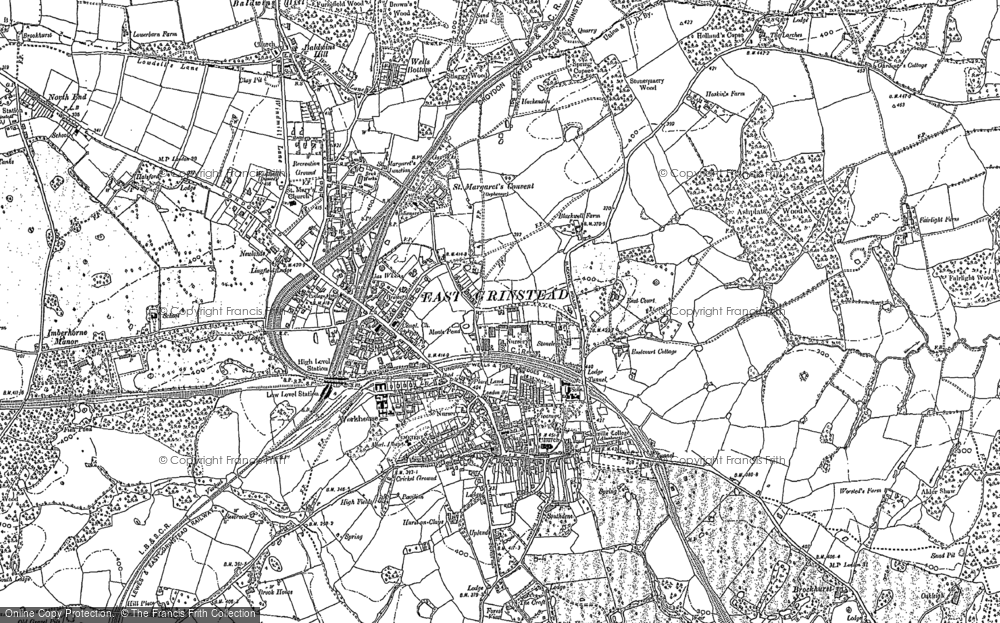 Old Map of Historic Map covering Ashplats Wood in 1908