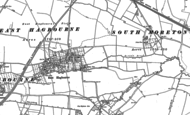 Old Map of East Hagbourne, 1898