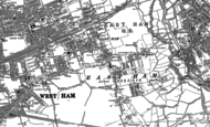 Old Map of East Ham, 1894 - 1895