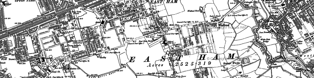 Old map of East Ham in 1894