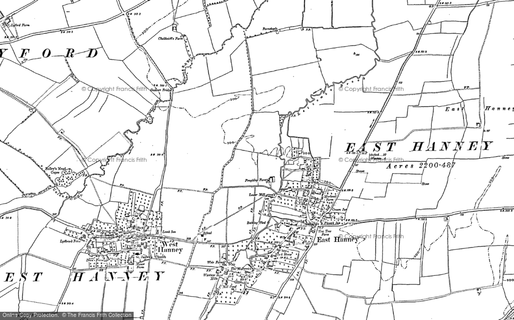 Old Map of Historic Map covering Letcombe Brook in 1898