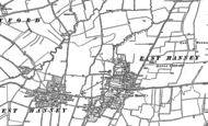 Old Map of East Hanney, 1898