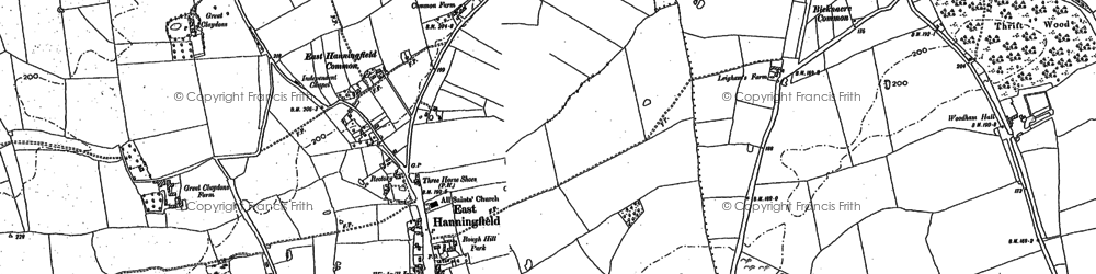 Old map of East Hanningfield in 1895