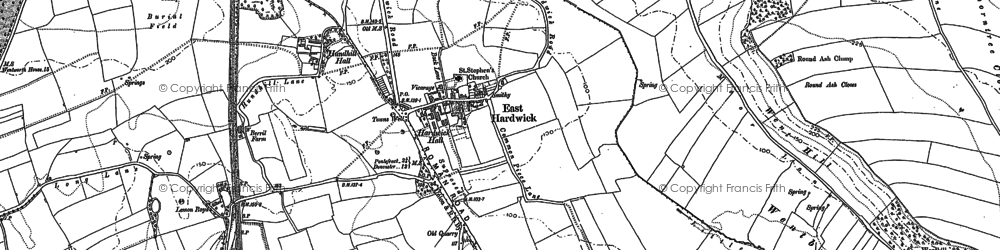 Old map of Ackworth Grange in 1860