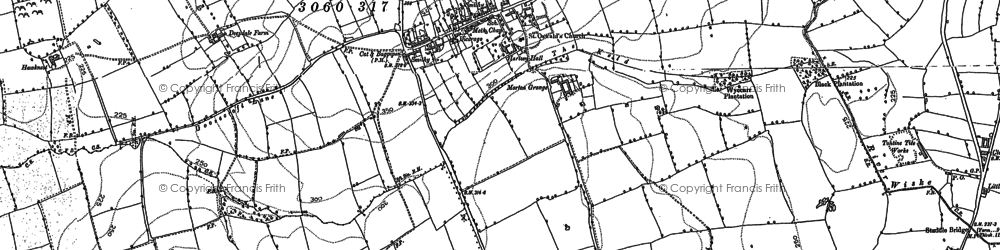 Old map of East Harlsey in 1892
