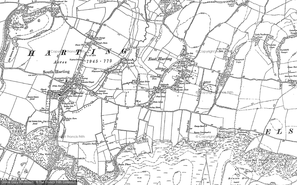 Old Map of East Harting, 1896 - 1910 in 1896