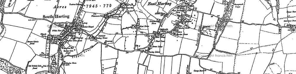 Old map of East Harting in 1896