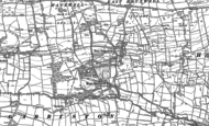 Old Map of East Hauxwell, 1891