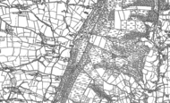 Old Map of East Hill, 1887 - 1888