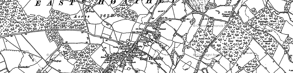 Old map of Barham Ho in 1898
