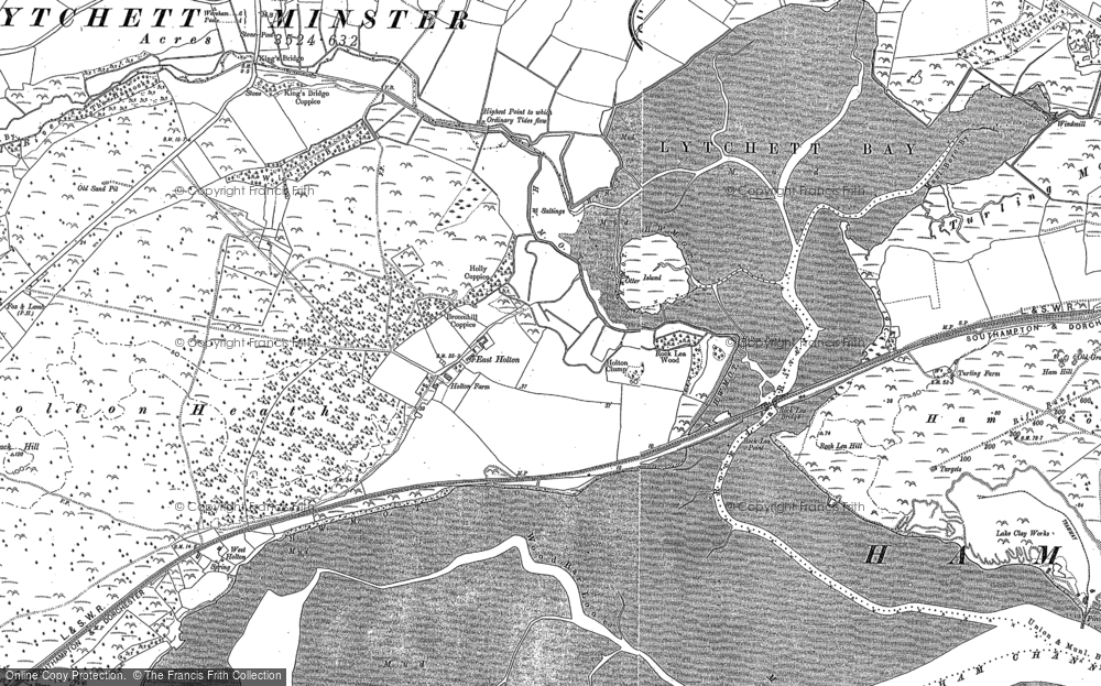 Old Map of Historic Map covering Wood Bar Looe in 1886