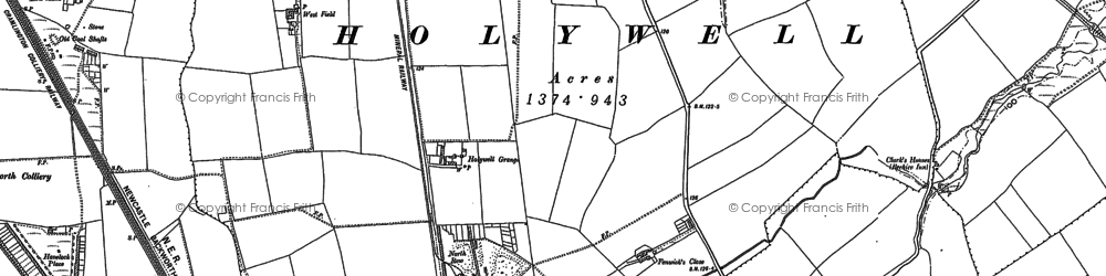 Old map of East Holywell in 1895