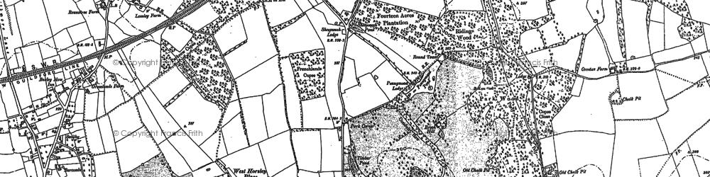 Old map of East Horsley in 1894