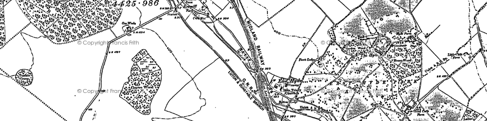 Old map of East Hyde in 1899