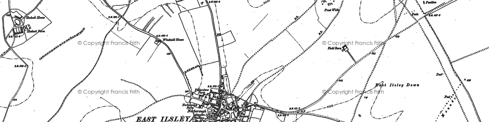 Old map of Abingdon Lane Down in 1898