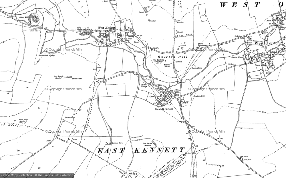 Old Map of Historic Map covering All Cannings Down in 1899