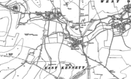 Old Map of East Kennett, 1899