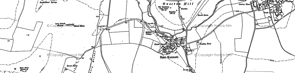 Old map of All Cannings Down in 1899