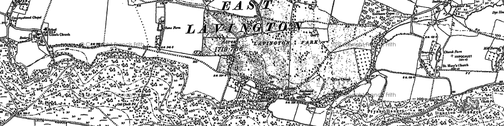 Old map of East Lavington in 1896