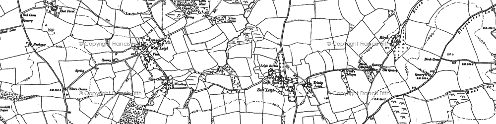 Old map of Leigh Cross in 1886