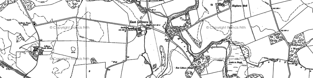 Old map of Lilburn South Steads in 1896