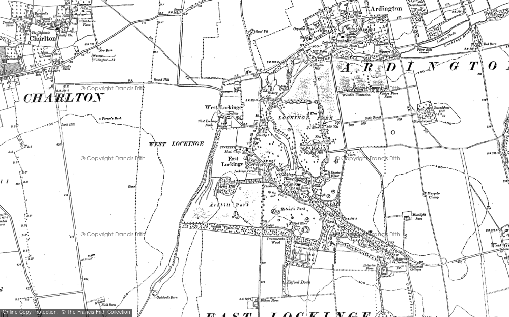 Old Map of Historic Map covering Arn Hill in 1877
