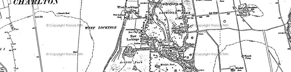 Old map of Lark Hill in 1877