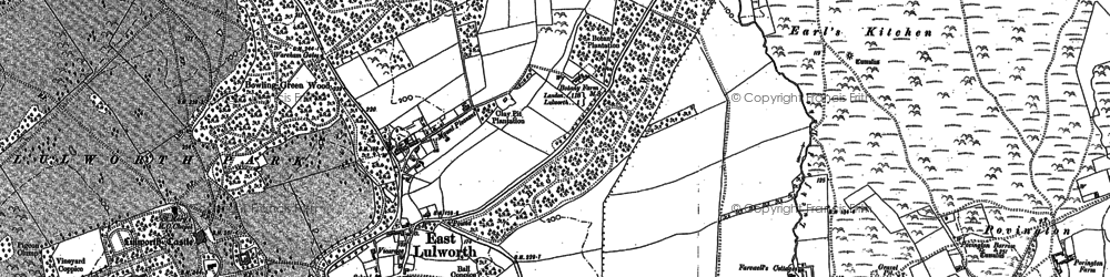 Old map of East Lulworth in 1886