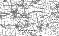 Old Map of East Lydford, 1885