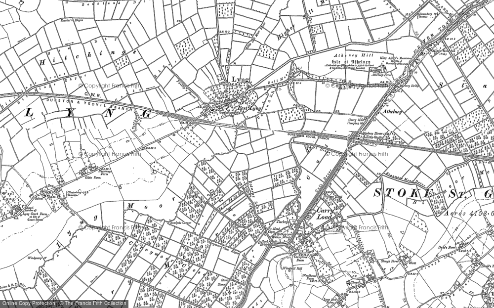 Old Map of Historic Map covering Bankland Br in 1885