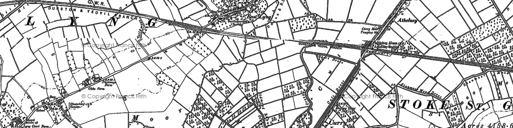 Old map of Bankland Br in 1885