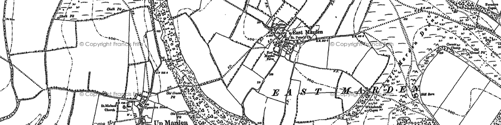 Old map of Wildhams Wood in 1896