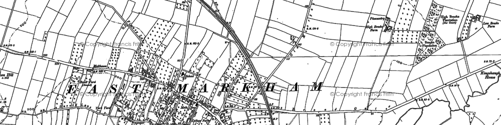Old map of East Markham in 1884