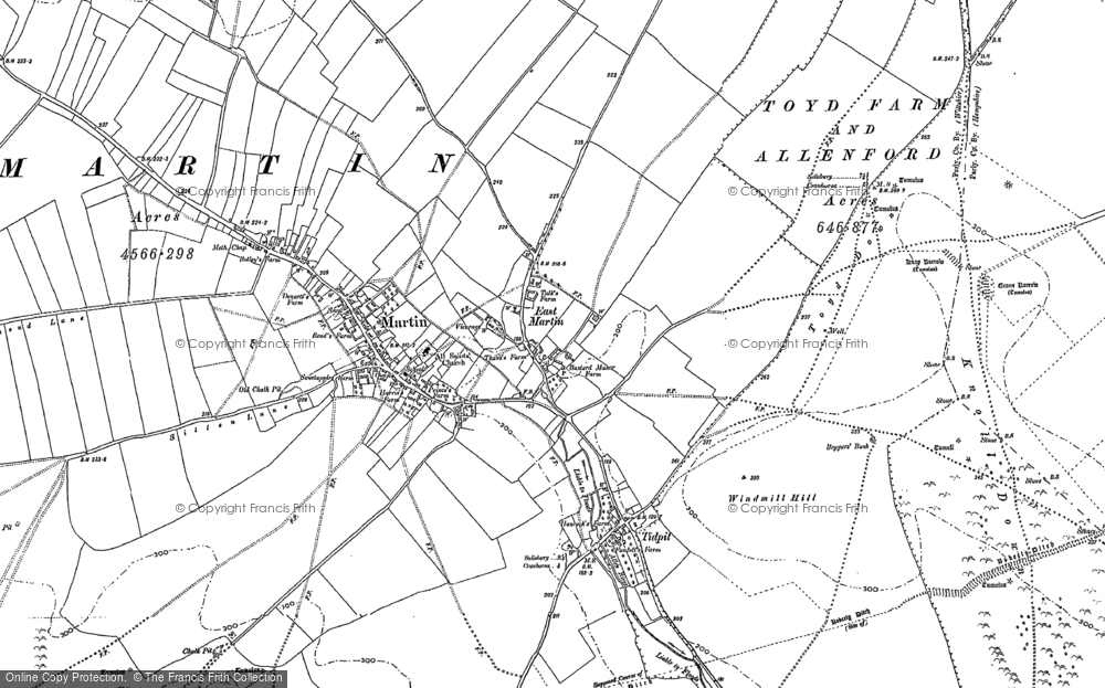 Old Map of Historic Map covering Tidpit in 1895