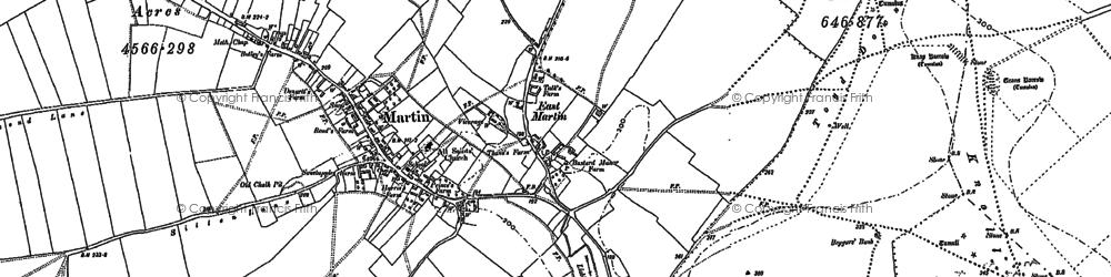Old map of Tidpit in 1895
