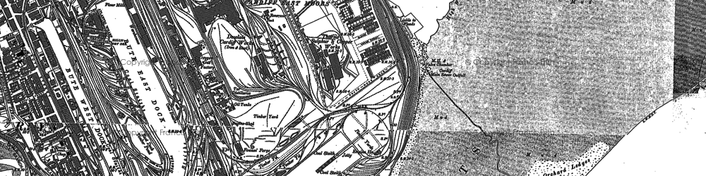 Old map of Atlantic Wharf in 1889