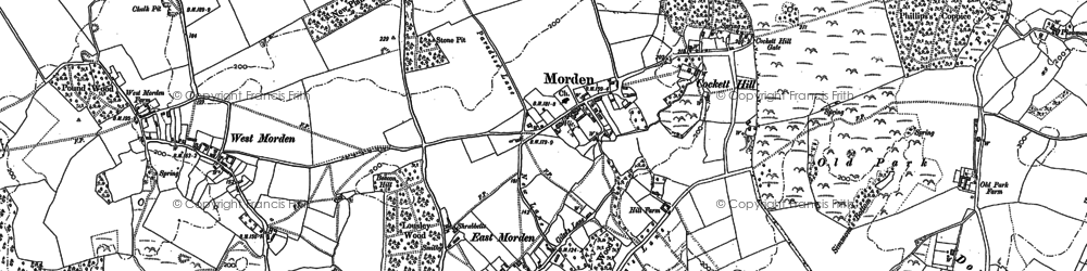 Old map of Whitmore Bottom in 1887