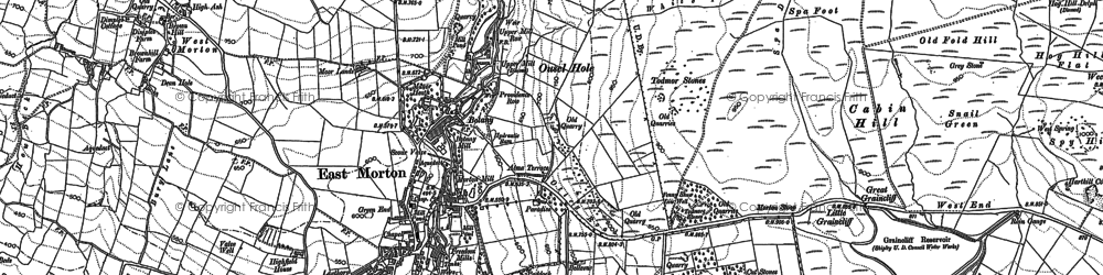 Old map of East Morton in 1848