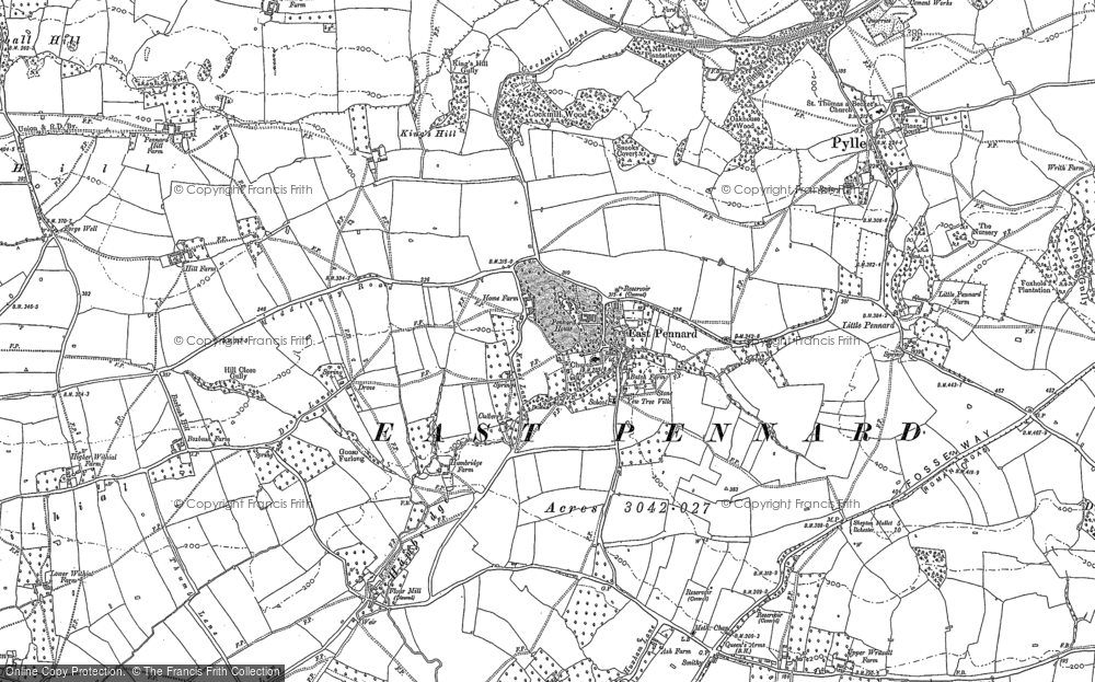 Map of East Pennard, 1885