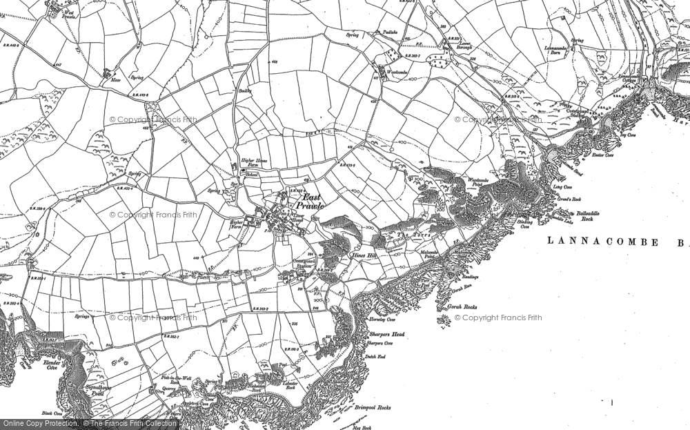 Old Map of Historic Map covering Ball Rock in 1905