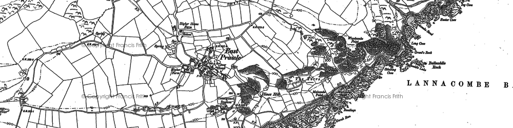 Old map of Woodcombe in 1905