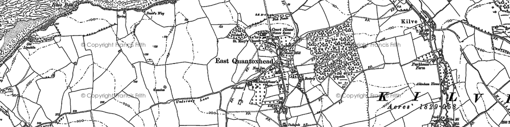 Old map of East Quantoxhead in 1902